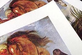 Canvasên neftê ji hêla 2.5m (8 feet) printerkera ekroyî ya WER-ES2501 ve hat çap kirin